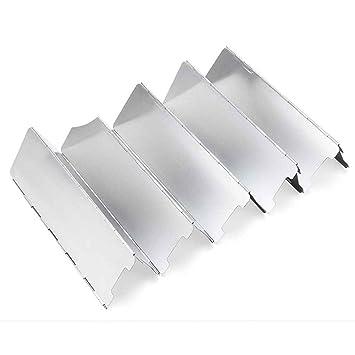 Compra Mengonee Plegable Camping al Aire Libre Estufa Cocina de Gas Pantallas de Viento a Prueba de Viento de Picnic Placa de aleación de Aluminio Estufa de ...