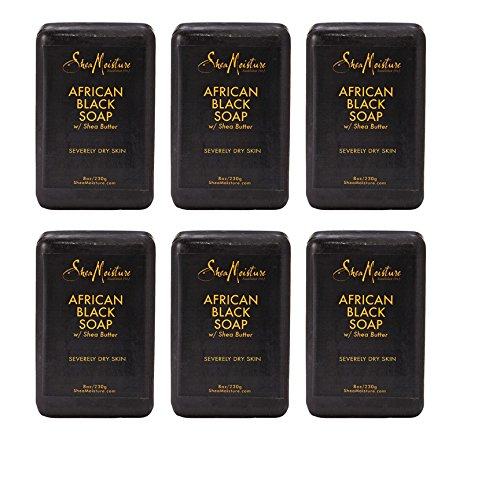 - Shea Moisture African Black Soap With Shea Butter 8 oz (Pack of 6)