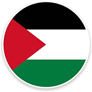 2 x 25cm/250mm Palestine Flag Vinyl SELF ADHESIVE STICKER Decal Laptop Travel Luggage Car iPad Sign Fun #9162