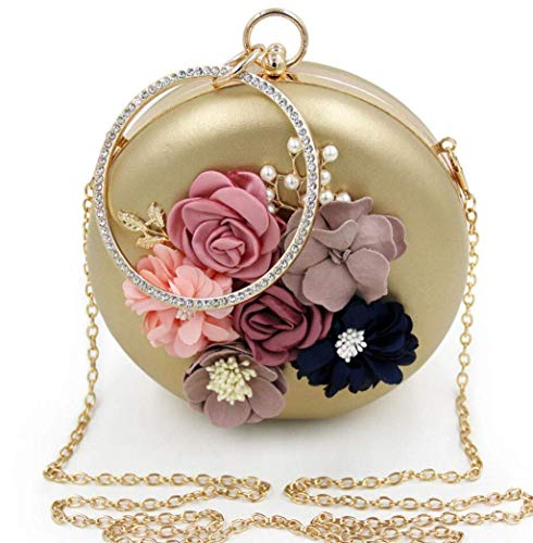 color Perlas Relleno Suave Noche Sky Noche Para grow Gold Dorado Bolso Dama Con Diamante Embrague De Red P1pz6q