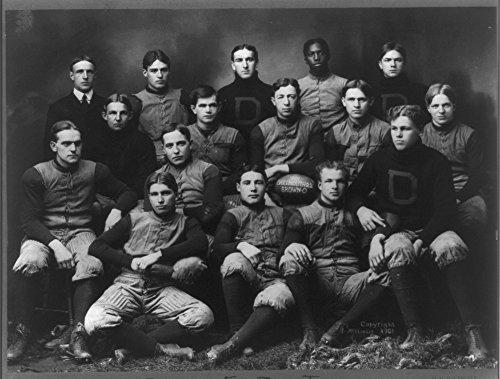 Historic Photos 1901 Photo Dartmouth Football Team, 1901 Portrait of Darmouth Football Team; African American Player on Back Row. Location: Hanover, New Hampshire