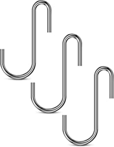 CZYJOE 30 Pack Heavy Duty S Hooks Pan Holders Pot Rack Hooks for Hanging Kitchenware, Utensils, Mugs, Bags, Plants, Clothes