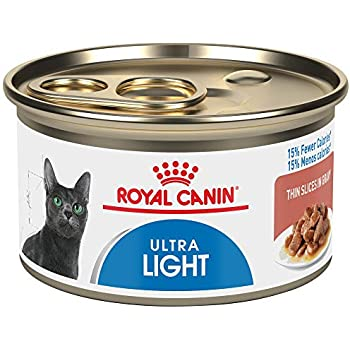 Royal Canin Feline Health Nutrition Ultra Light 15% Fewer Calories Thin Slices in Gravy Canned Cat Food, 3 Ounce Can (Pack of 24)