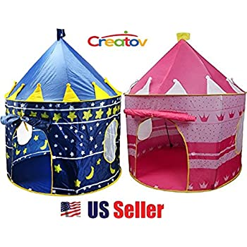 Kids Play Tent Indoor Outdoor - for Boys Girls Baby Toddler Playhouse Prince House Castle Blue  sc 1 st  Amazon.com & Amazon.com: Kids Play Tent Indoor Outdoor - for Boys Girls Baby ...
