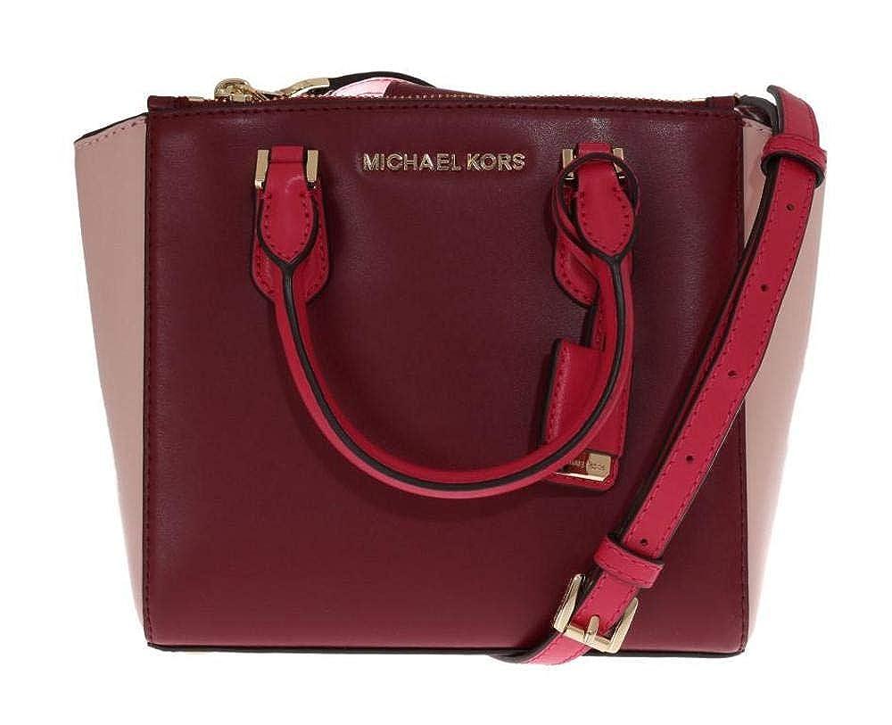 e227d51437724 Amazon.com  Michael Kors Carolyn Small Cross Body Tote Bag Brown PVC  Shoes