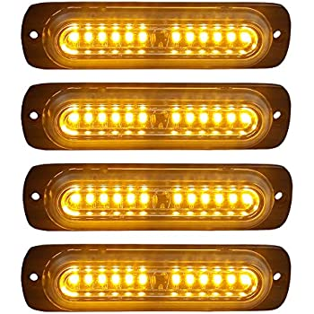 Amazon Com 4pcs Ultra Slim 12 Led Surface Mount Grille