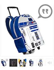 Disney - R2-D2 Talking Light-Up Rolling Backpack - New