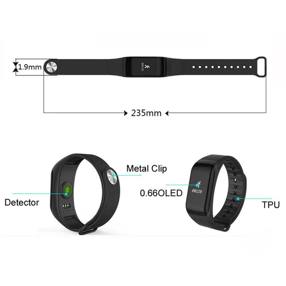 Fitness Tracker, DAWO Fitness Reloj de pulsera resistente al agua Fitness Tracker HR con frecuencia cardíaca/Dormir Análisis/Contador de Calorías/Actividad ...