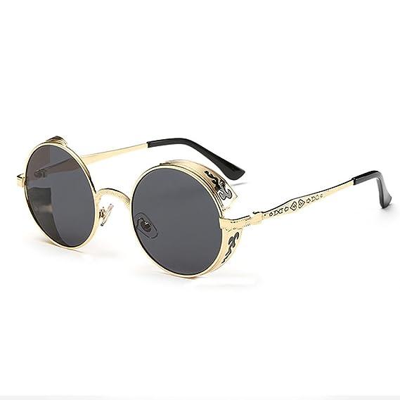 Gusspower Gafas de Sol Redondas Pequeña Polarizadas Lente ...