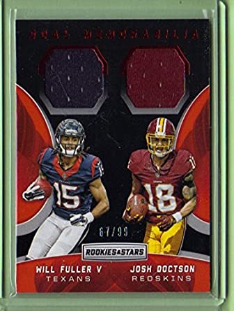 086474907 2016 Rookies and Stars Dual Jerseys  20 Josh Doctson   Will Fuller - Rookie  Year