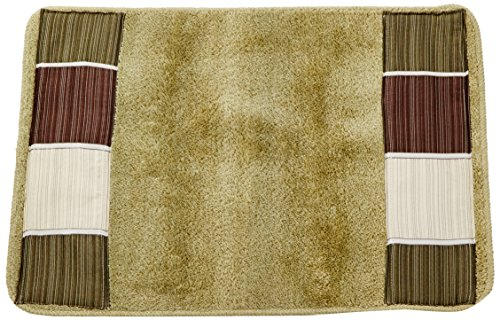 Popular Home The Modern Line Collection Banded Bath Rug, Sag