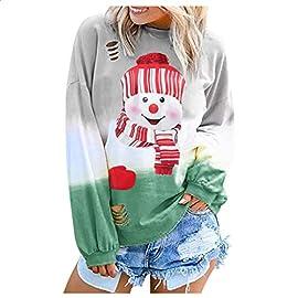 ZODOF sudadera navidad mujer Moda Letra Gradual Manga larga Cuello redondo Camisa Blusas Tops tie dye sudadera mujer Shirt Sweatshirt Pullover