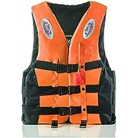 CASOME Livsjacka, vuxna/barn flytväst med livräddare visselpipa, 360° reflekterande remsa justerbar säkerhetsrem…