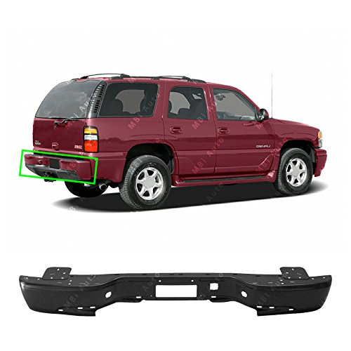 Gmc Yukon Rear Bumper (MBI AUTO - Primered, Steel Rear Bumper Face Bar for 2000-2006 GMC Yukon & Chevy Tahoe Suburban 00-06, GM1102384)