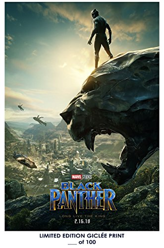 Rare Poster marvel Black Panther movie 2018 giclee Reprint #'d/100!
