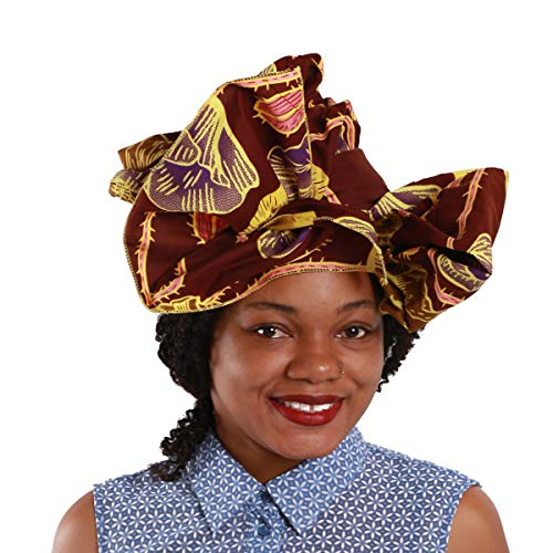- NewJourney Print Fabric African Head Wraps Head Scarf Tie for Women Soft Polyester Clothing Bazin Riche Headwear (55cmx175cm)