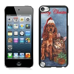 2014 New Style Christmas Dog and Cat Black iPod Touch 5 Case 3 wangjiang maoyi
