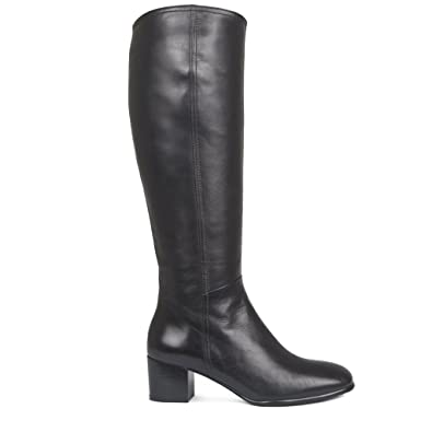 269d9320d9a TJ Collection Women s Glove Leather Block Heel Classic Long Boots ...