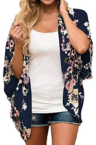 Sheer Spring - Finoceans Summer Cardigans for Women Lightweight Deep Blue Colorful XL