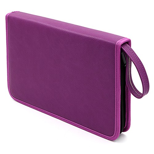 BTSKY Zippered Colored Case PU Capacity