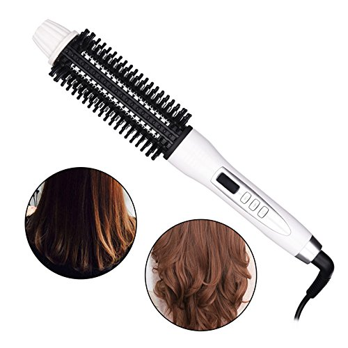 Newest Ceramic Anion Hair Curler Comb Hairbrush LCD Curling/Straighting Straightener Brush Roller Iron Fashion Styling Tools, Ceramic Hair Curler Electric Comb Hairbrush (Straighting Hair)