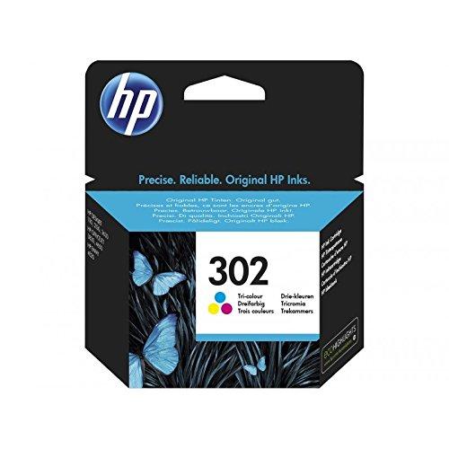 HP 302 Tri-color Original Ink Cartridge - Cartucho de tinta para impresoras (Cian, Magenta, Amarillo, Estándar, 4 ml,...