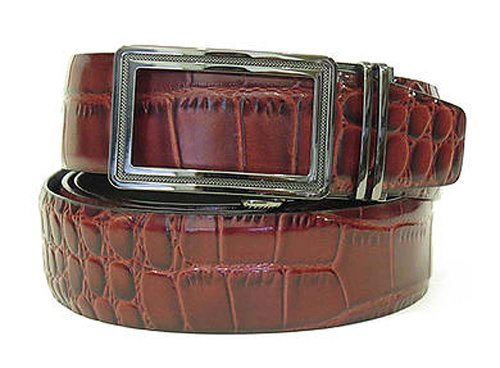 Nexbelt Reptile Series Burgundy Alligator Belt La Ventana Buckle Golf (Reptile Buckle Belt)