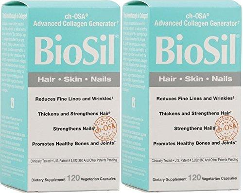 Biosil Skin & Hair & Nails Biosil 120 VCaps (Skin & Hair & Nails 2 x 120) by Natural Factors (Image #1)