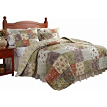 Greenland Home Blooming Prairie Full/Queen Quilt Set