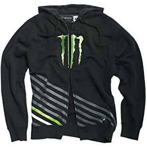One Industries Monster Vertical Men's Hoody Zip Fashion Sweatshirt/Sweater - Color: Black, Size: 2X-Large