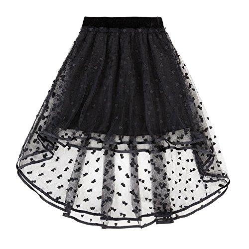 Deux Par Deux Girls Skirt - Deux par Deux Hi-Low Mesh Skirt (8)