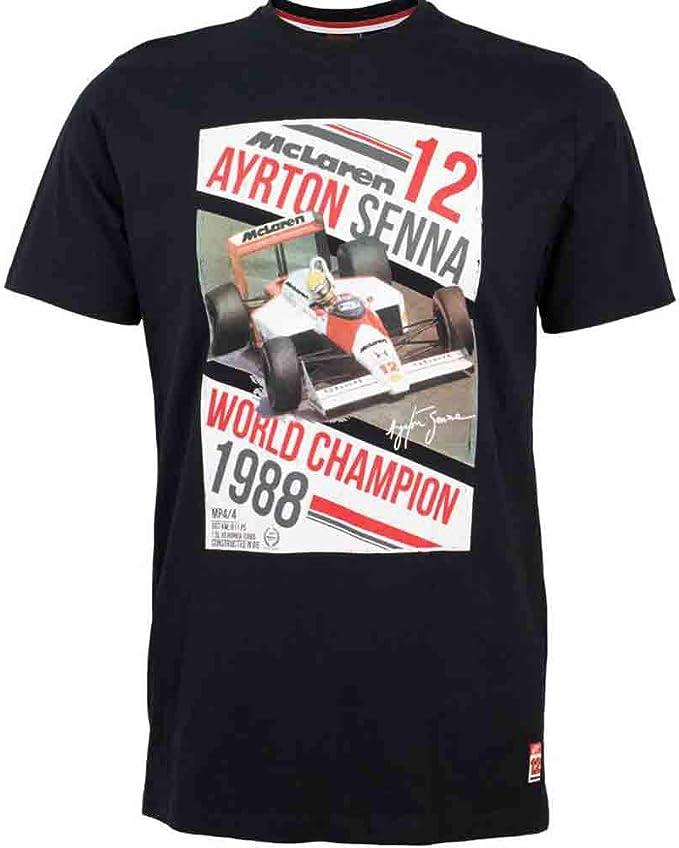 MBA-SPORT Ayrton-Senna T-Shirt schwarz