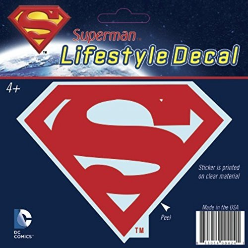 "DC+Comics Products : DC Comics Superman Red Logo Family Auto/Car Window 4.5"" wide by 4.5"" high Sticker Decal (Made In The USA)"