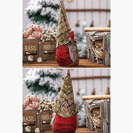 Nrpfell Hand Gemachte Schwedische Stofftier Santa Doll GNOME Skandinavischen Tomte Nordisch Nisse Sockerbit Zwerg Elf Haus Ornamente Weihnachten Santa 2