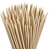 YEZZL 24Inch Long 5mm inch bamboo sticks made from 100% natural bamboo - shish kabob skewers Environmentally Safe 100% Biodegradable Marshmallow Roasting Sticks Kebab Barbecue Skewers 100 Pieces