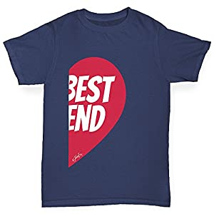 Twisted Envy Boy's My Best Friend #2 Cotton T-Shirt, Comfortable and Soft Classic Tee with Unique Design Age 12-14 Navy