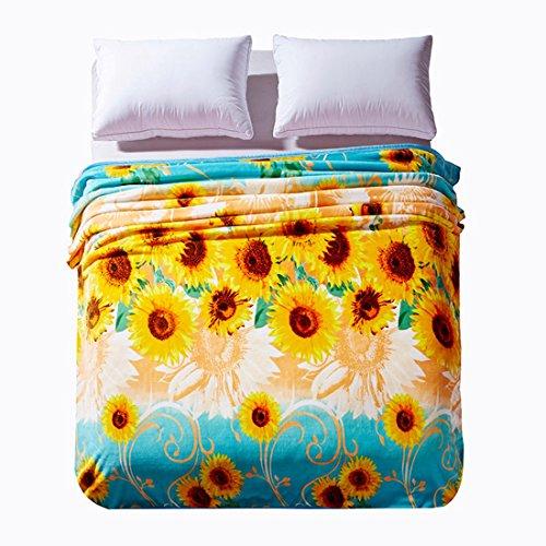 Blanket Sunflower coral velvet blankets product image