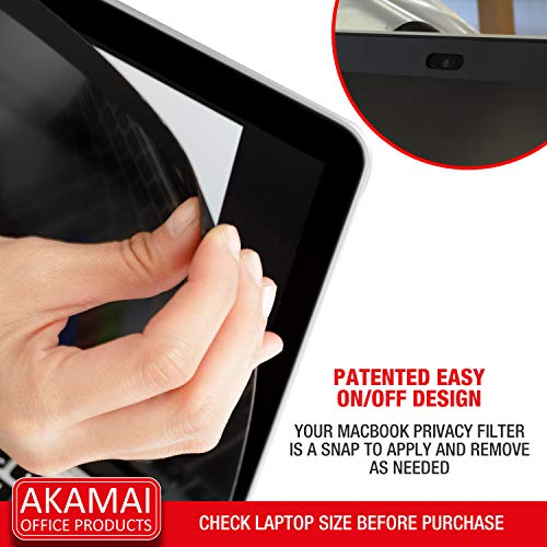 Akamai Office Products 13 Inch MacBook Air (2017 & Prior Models) Magnetic Privacy Screen (16:9) Filter - Antiglare Glass Display Security Cover (MacBook Air 2017, Easy On/Off Magnetic)