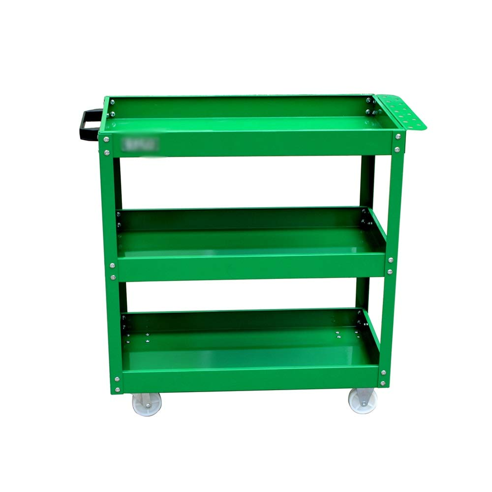 LJJL トロリー収納棚、3層ツールカートトロリーワークショップモバイルツールラック自動車修理自動車修理自動車修理部品 (Color : A) B07TFFZVH6 A