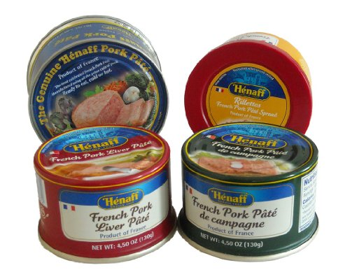 [Henaff French Pate Assortment: 4 Different Pates] (Pork Liver)