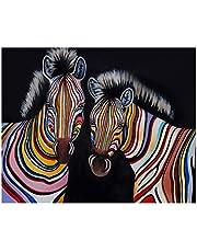 S-TROUBLE Dos cebras DIY Paint by Numbers Imagen Moderna del Arte de la Pared para niños y Adultos