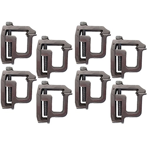 (Set of (8) Heavy Duty Truck Cap Topper Camper Shell Mounting Clamps TL-2002)