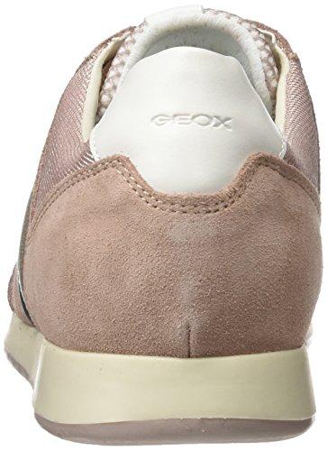 Geox D Deynna D, Sneakers Basses Femme Rose (Antique Rose)