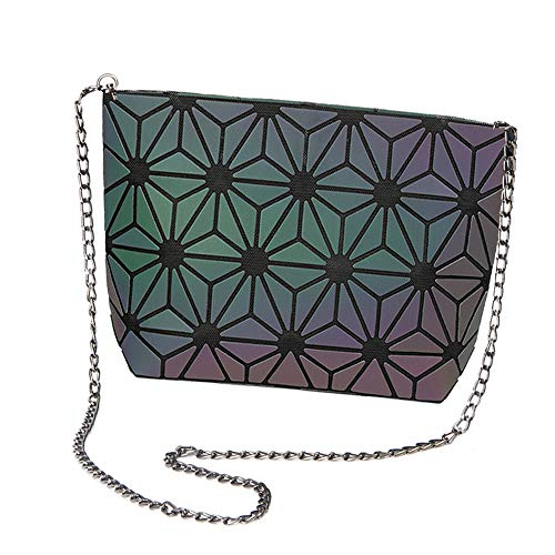 for Magibag Purse Bag Flower Lattice Leather Handbag Crossbody PU Women Girls Geometric Shoulder Chain gCqTUpC