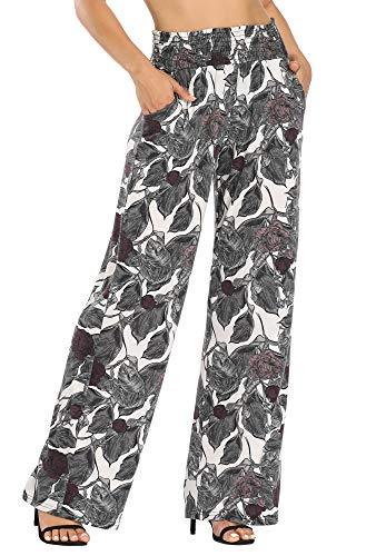 Urban CoCo Women's Boho Palazzo Pants Wide Leg Lounge Pants