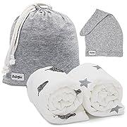 Muslin Swaddle Blanket Set: Soft Swaddlers Babies Love. Baby Shower Gifts