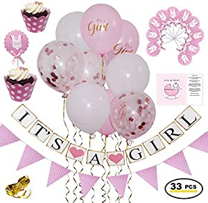 Sweepstakes: Baby Shower Decorations for Girl in Pink & Gold –…