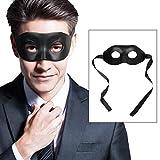 BengPro Men's Black Venetian Mardi Gras Masquerade Mask Faux Leather Halloween Costume Fancy Decorative Half Mask
