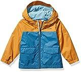 Columbia Boys' Toddler Rain-Zilla Jacket, Blue Heron/Canyon Gold, 3T