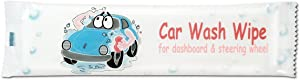 Auto Dashboard Cleaning, Car Wash Wipes for use at Home - 50 Individually Sealed Wipes